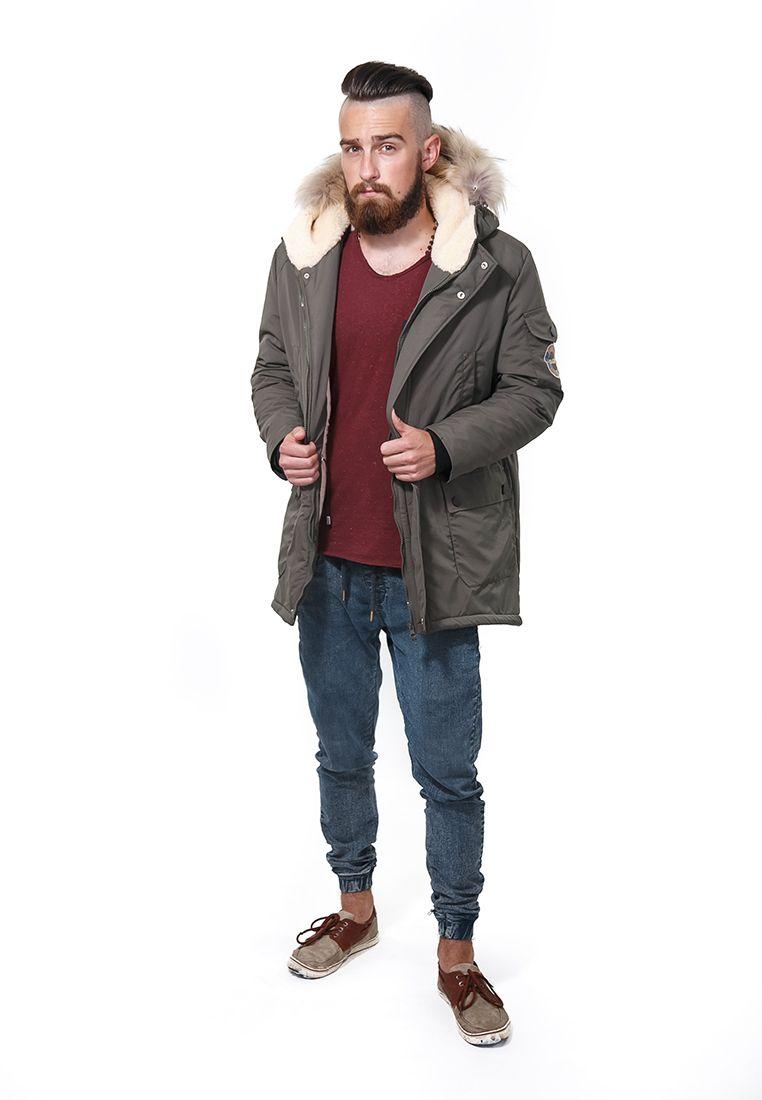 Мужская зимняя парка хаки DASTI (коллекция WinterVille)   Официальный сайт  DASTI  производителя трендовой одежды и обуви 61f12ad6496