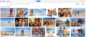 Why lesbian travel? Because Google's gay travel result needs more muff.