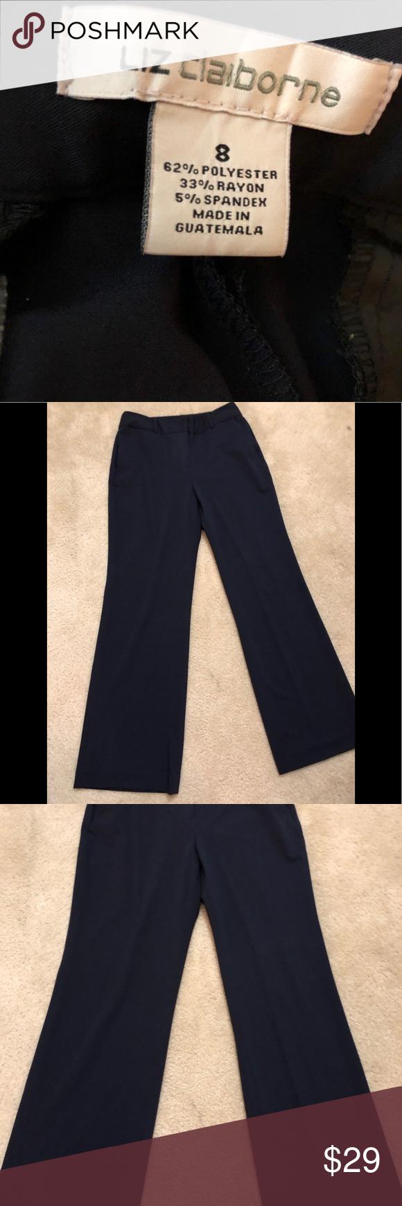 78d87f166a04e Liz Claiborne Dress Slacks EUC Liz Claiborne Dress Slacks Navy Blue, Size 8  Pants Trousers