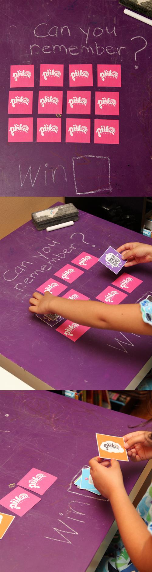 Printable Memory Game. An Original #kids #craft by www.piikeastreet.com #piikeastreet