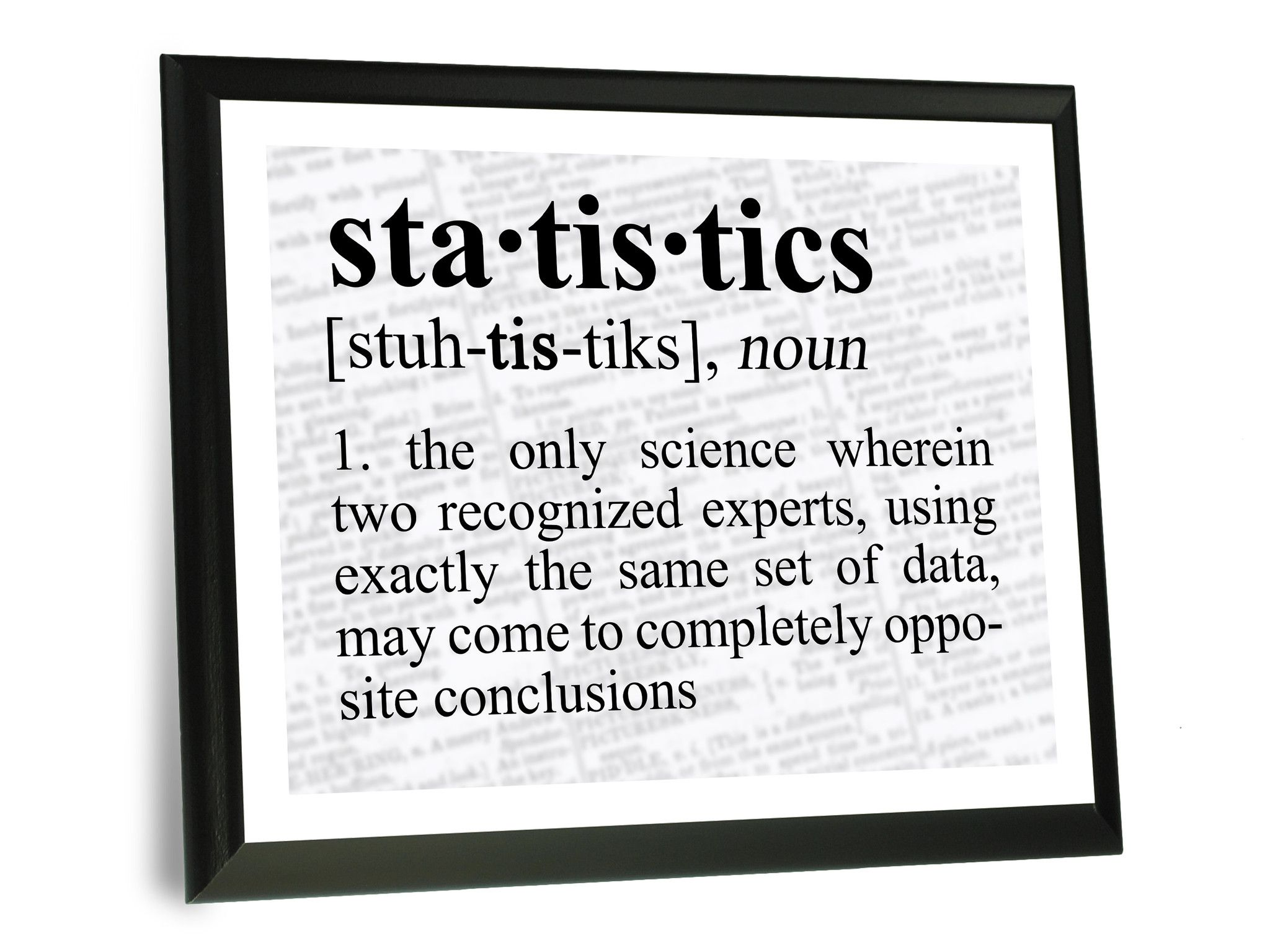 Statistics Definition Funny Typography Wall Plaque Science Quotes Funny Science Quotes Statistics Quotes