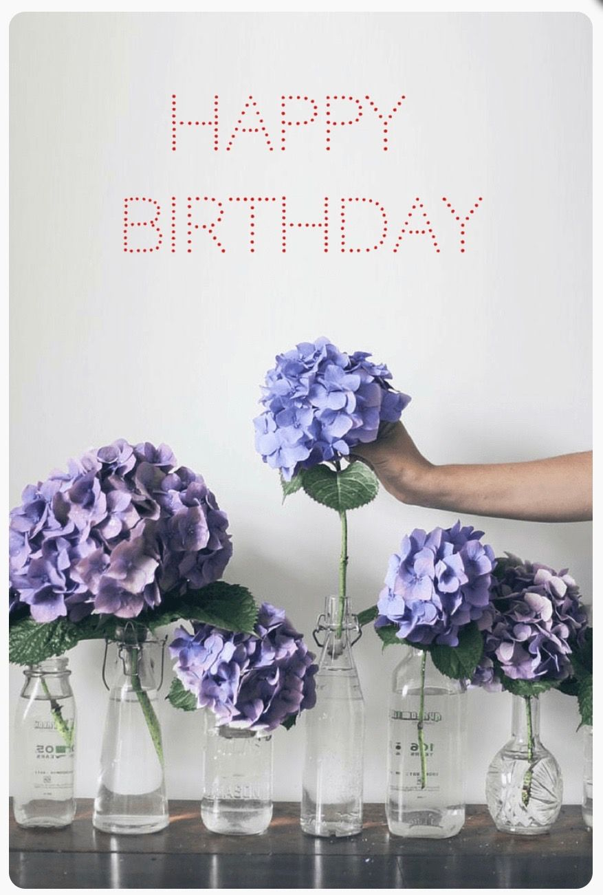 Pin by sandrine les cras on happy birthday joyeux anniversaire hydrangeas in different jars cool idea to spread throughout an area izmirmasajfo