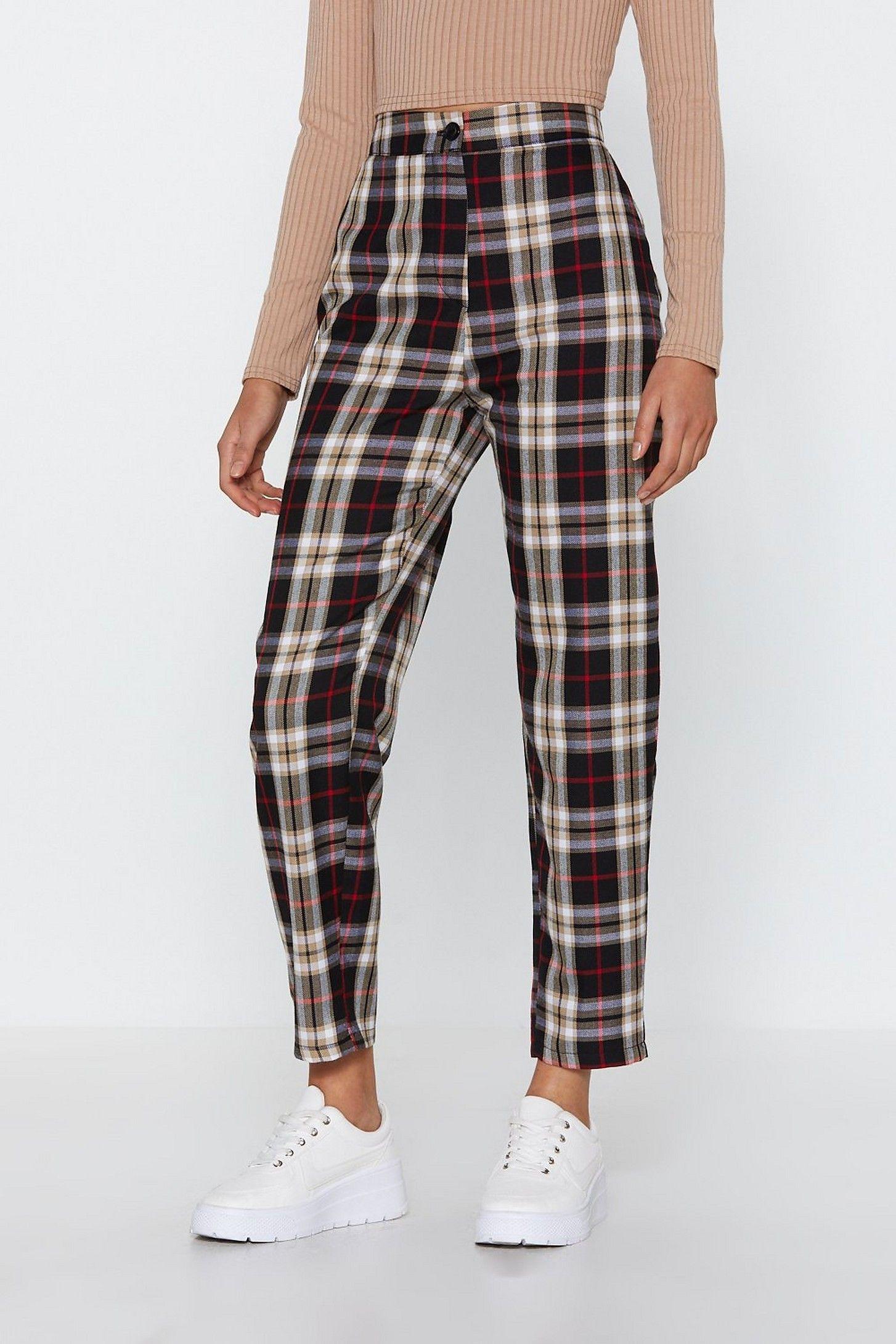 Tartan Up Tapered Pants | Nasty Gal