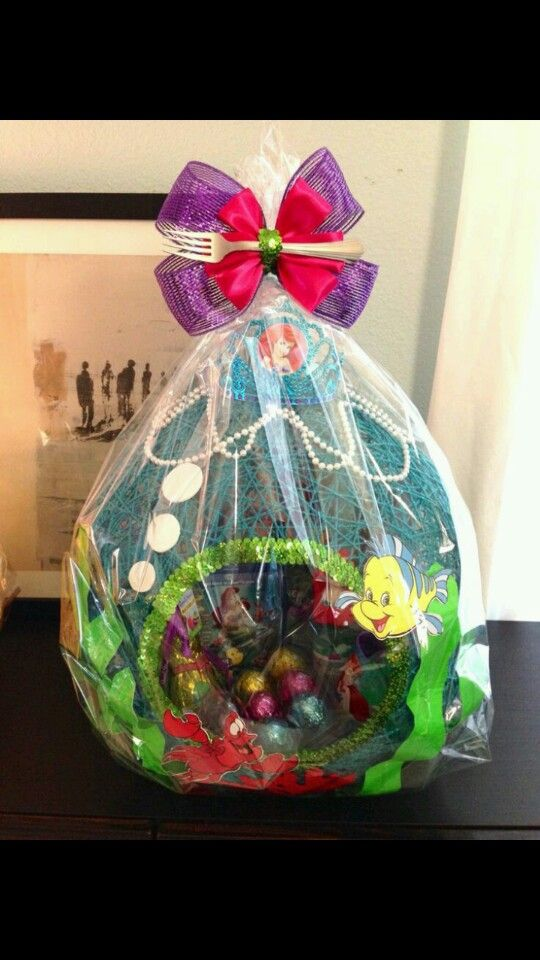 String easter basket string easter baskets pinterest easter little mermaid string easter basket i made for my daughter negle Image collections