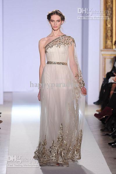 New Arrival 2014 Zuhair Murad Wedding Dresses Greek Style One ...