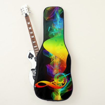 Treble Clef Music Amp Colors Electric Or Acoustic Guitar Case Girl Gifts Special Unique Diy Gift Idea Guitar Case Acoustic Guitar Case Guitar