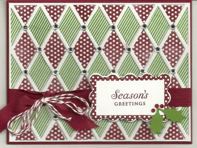 Christmas card harlequin die grid formal look that would - christmas card layout