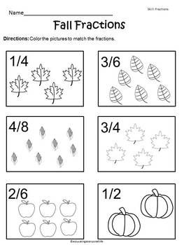 Fractions worksheets for prek, k-8 schools, free math games, free ...