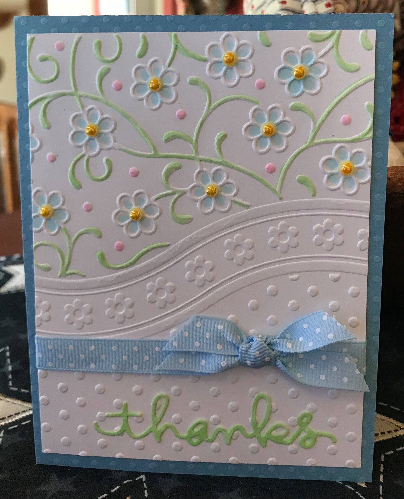 I Have This Embossed Paper Easy Card To Make With Images