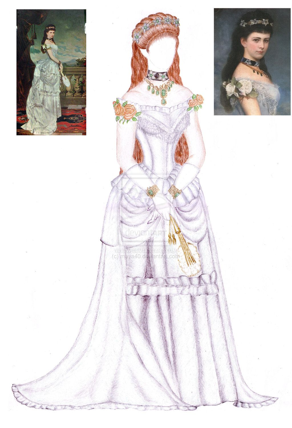 Sissi Empress Elisabeth doll clothing by maya40.deviantart.com on @deviantART