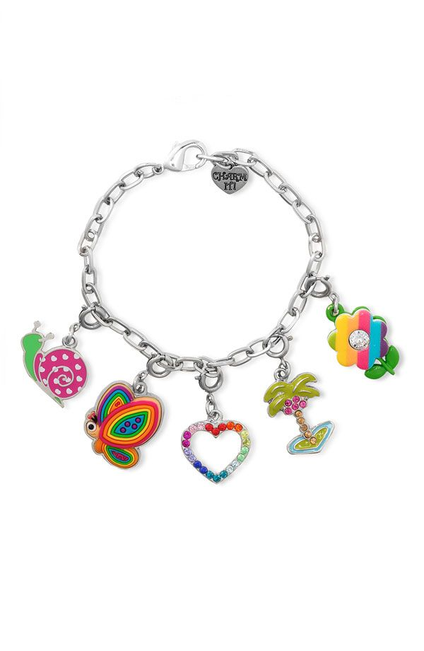 Bright And Colorful Charm It Bracelet Cool Things To Bread Charms