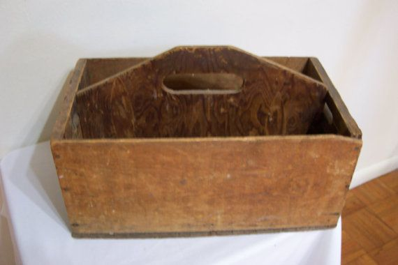 Wood Box Gardening or Tools Handmade by LuRuUniques on Etsy, $28.00