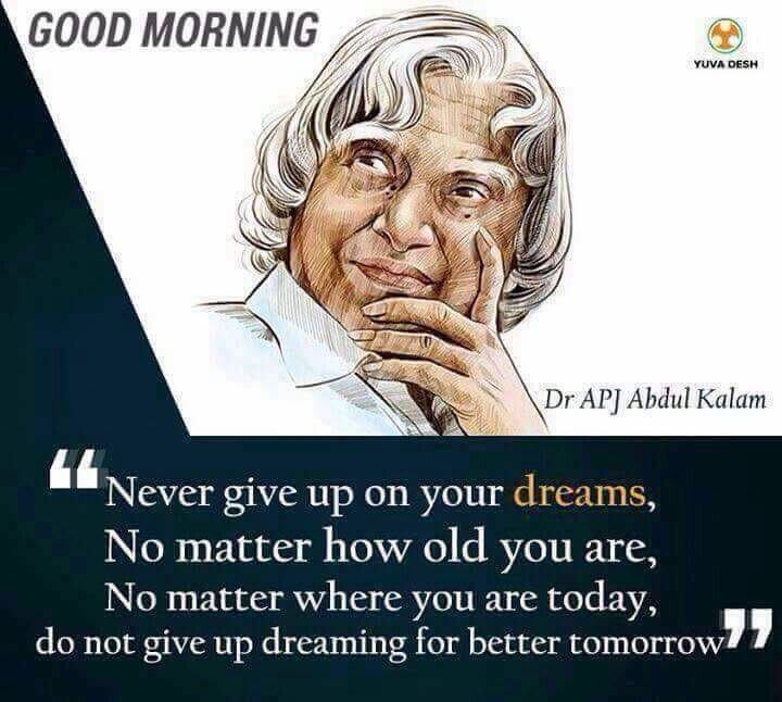 Pin by Sandhya on Good Morning Apj abdul kalam thoughts