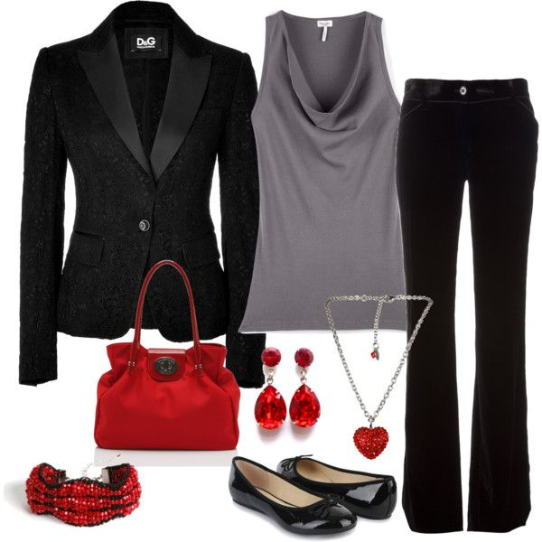 Suit with a Touch of Red