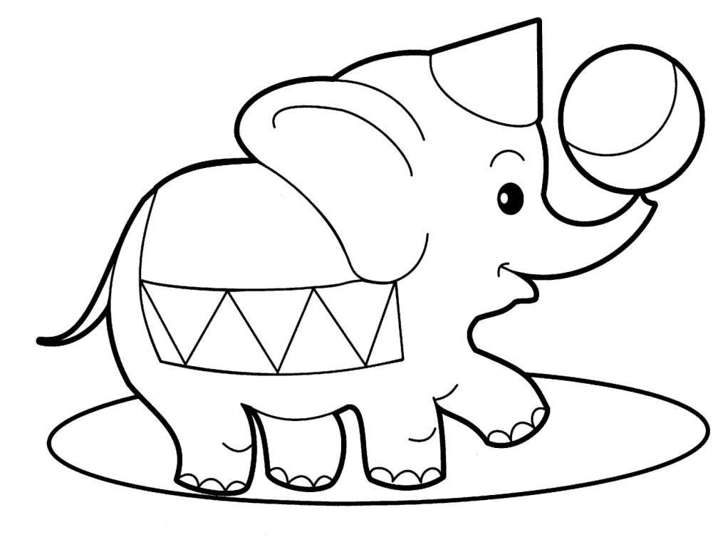 desenho de elefante de circo para pintar | idéias ale in 2018 ...