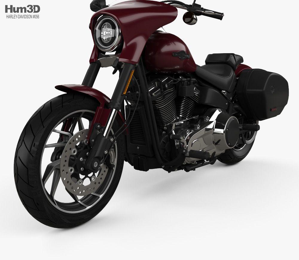 HarleyDavidson FLSB Sport Glide 107 2018 3d model from