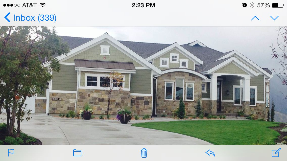 Exterior Paint And Stone Sw 6164 Svelte Sage Ben Moore Tate Olive Hc 112 Sawtell And Platnum