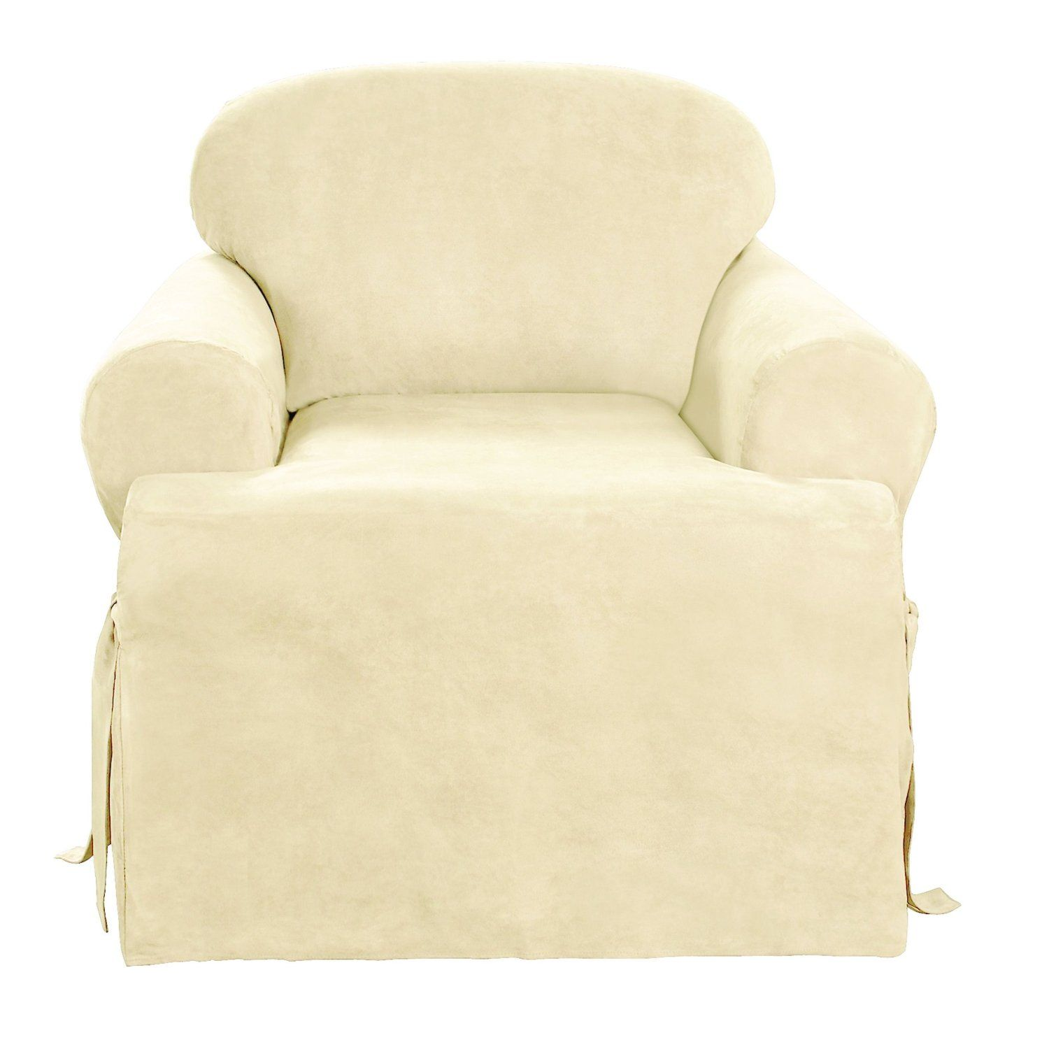 Sure Fit Soft Suede Tcushion Chair Slipcover