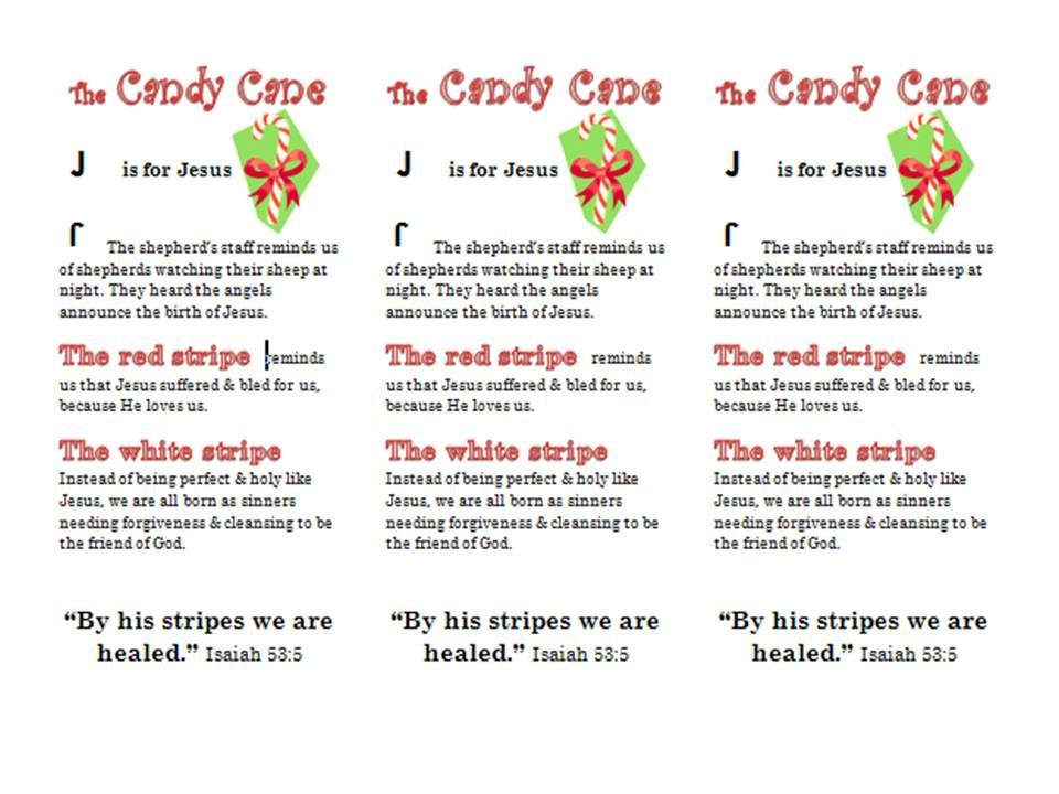 The Word In Christmas Weekend Tools Candy Cane Legend Candy Cane Story Christmas Bookmarks