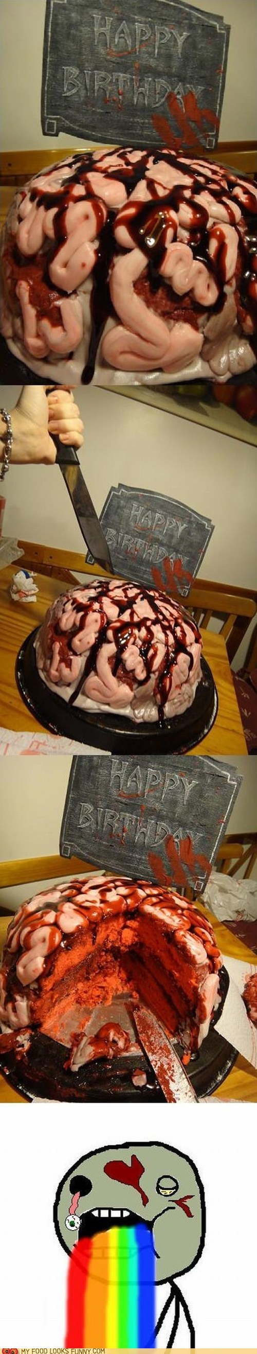 Zombie Brain Birthday Cake Zombies Pinterest Birthday Cakes