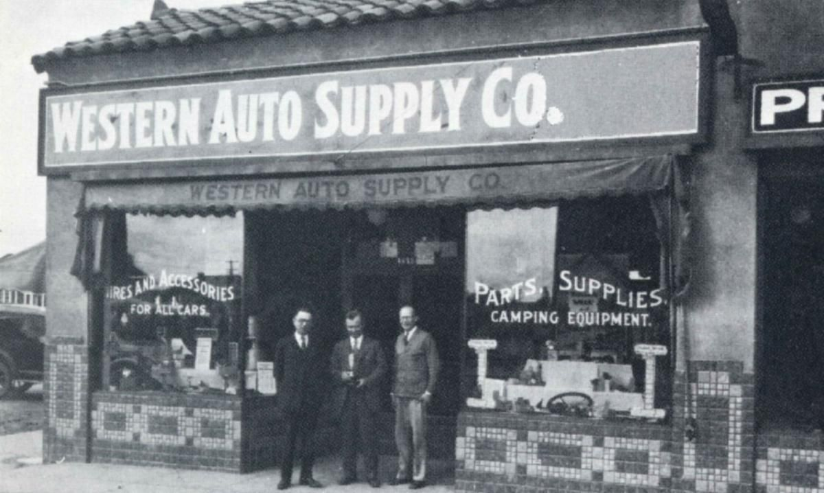 Western Auto Supply Co. 1920 3 stores Auto supplies
