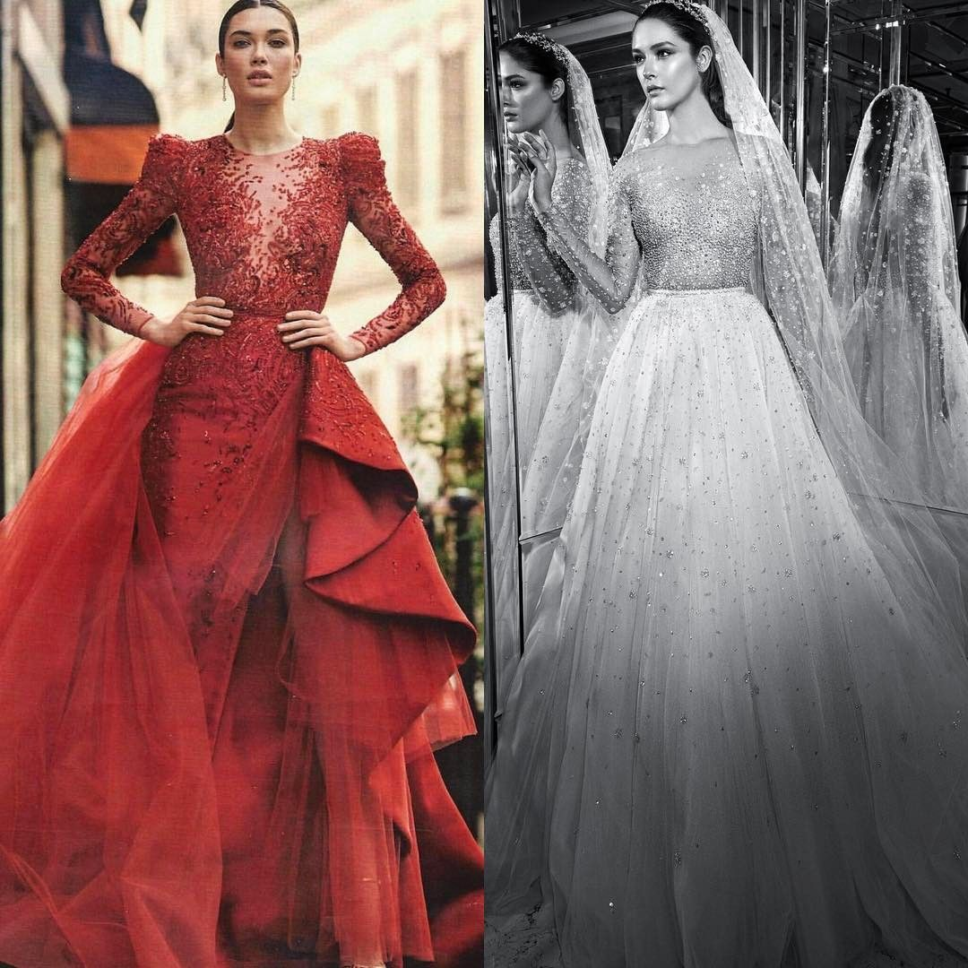 Ravishing red zuhair murad couture gown featured in ihola magazine
