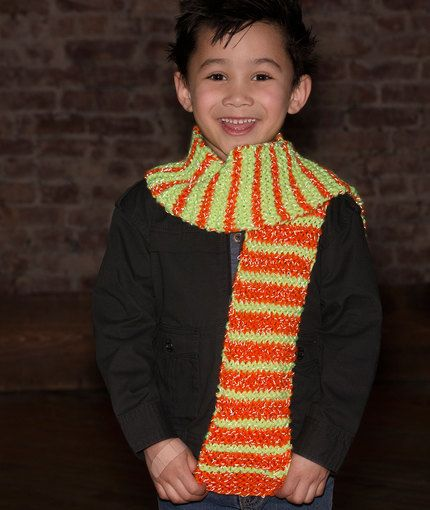 So Cool in Stripes Scarf Free Knitting Pattern in Red ...