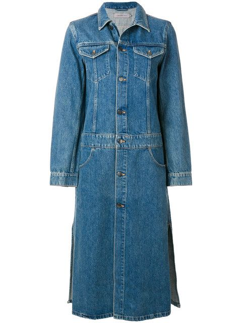 984f4c3219d CALVIN KLEIN long denim jacket.  calvinklein  cloth