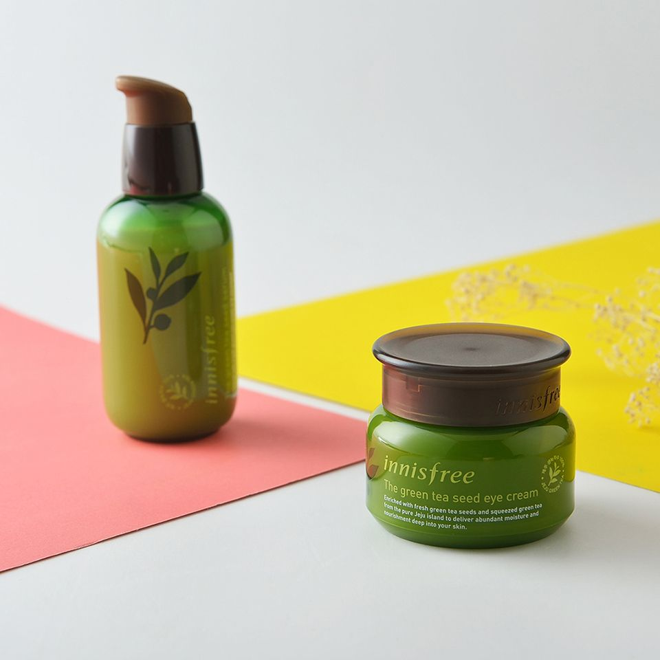Beauty Hack Mix The Innisfree Green Tea Seed Oil With Your Balancing Special Kit 4 Items Foundation To Create A