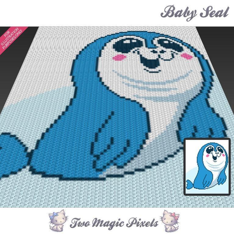 Baby Seal C2C Crochet Graph | Häkeldecke, Häckeln und Decken