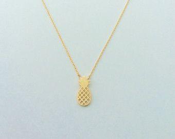 VENTE ananas collier à breloques bijoux par tangerinejewelryshop