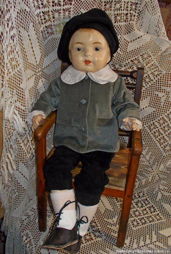 Редкий шагающий американский мальчик от Louis Amberg & Son 1919 год / Антикварные куклы, реплики / Шопик. Продать купить куклу / Бэйбики. Куклы фото. Одежда для кукол