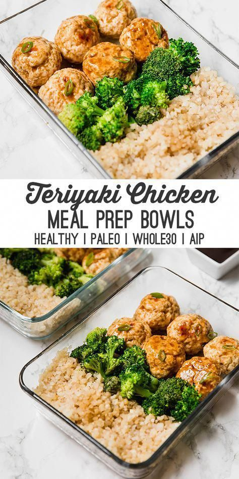 Teriyaki Chicken Meatball Meal Prep Paleo Whole30 Aip Recipe