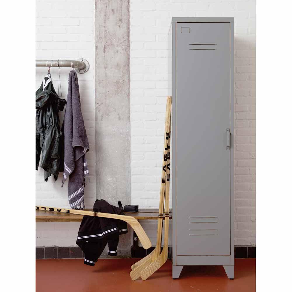 Metallschrank Mats 1 Turig Grau Flur Garderobe Mein Raum