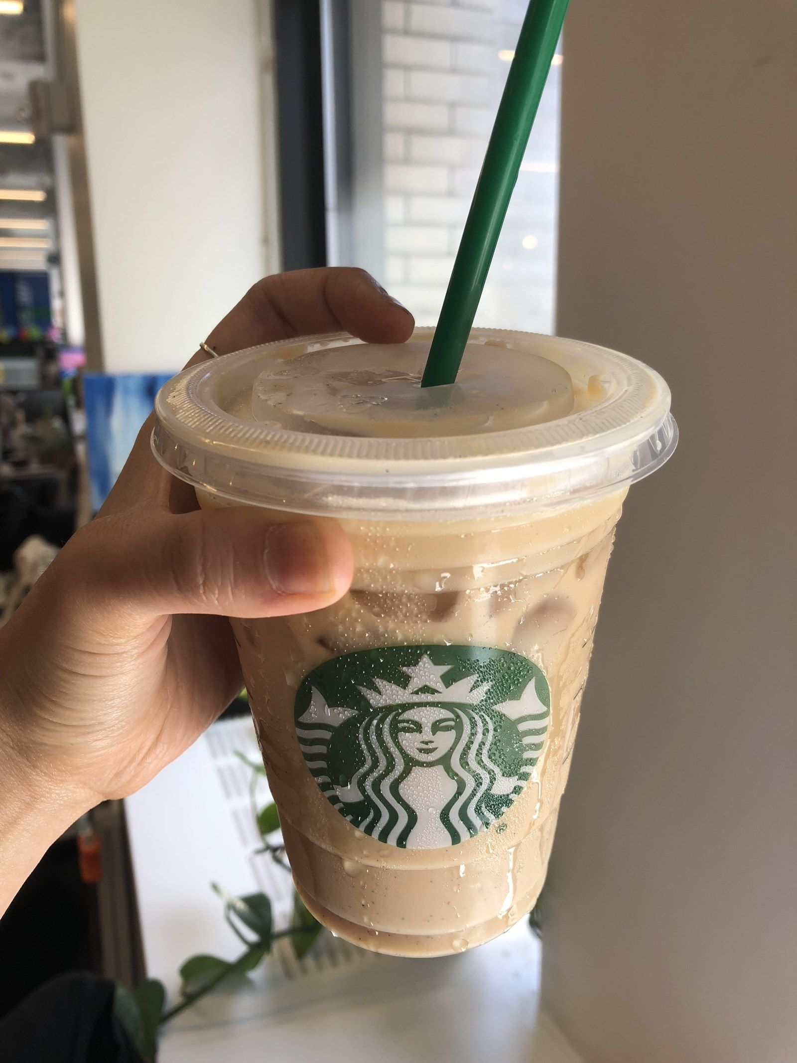 Next: the Iced Vanilla Bean Coconutmilk Latte. It looked ...