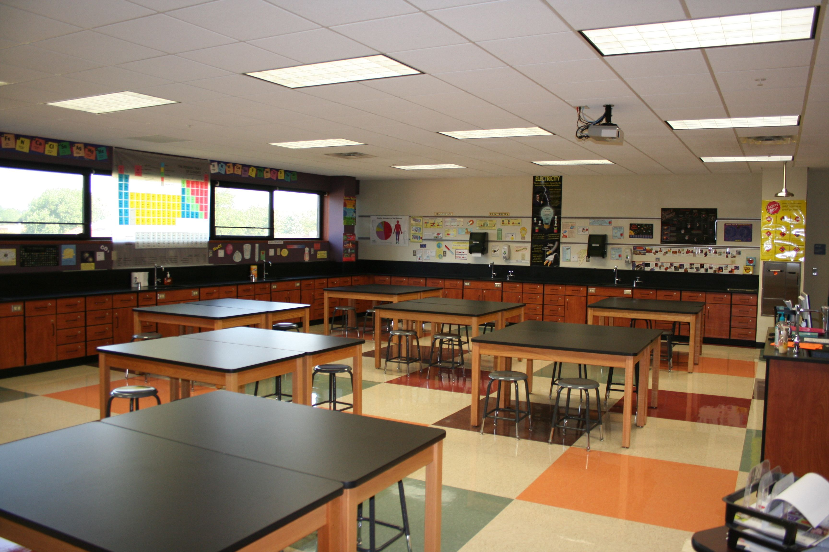 Thompson Junior High Science Lab Classroom