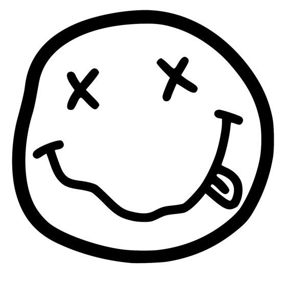 6 Inch Dead Smiley Vinyl Emblem For Outdoors Or Indoors Band Stickers Nirvana Logo Graffiti