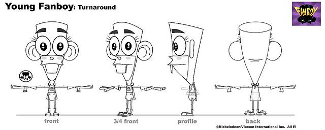Young Fanboy Turnaround Character design, Character sheet and - character model template