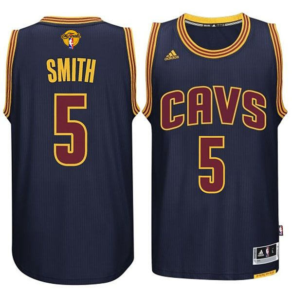 Cleveland Cavaliers #5 JR Smith 2015-16 Finals Navy Blue Jersey