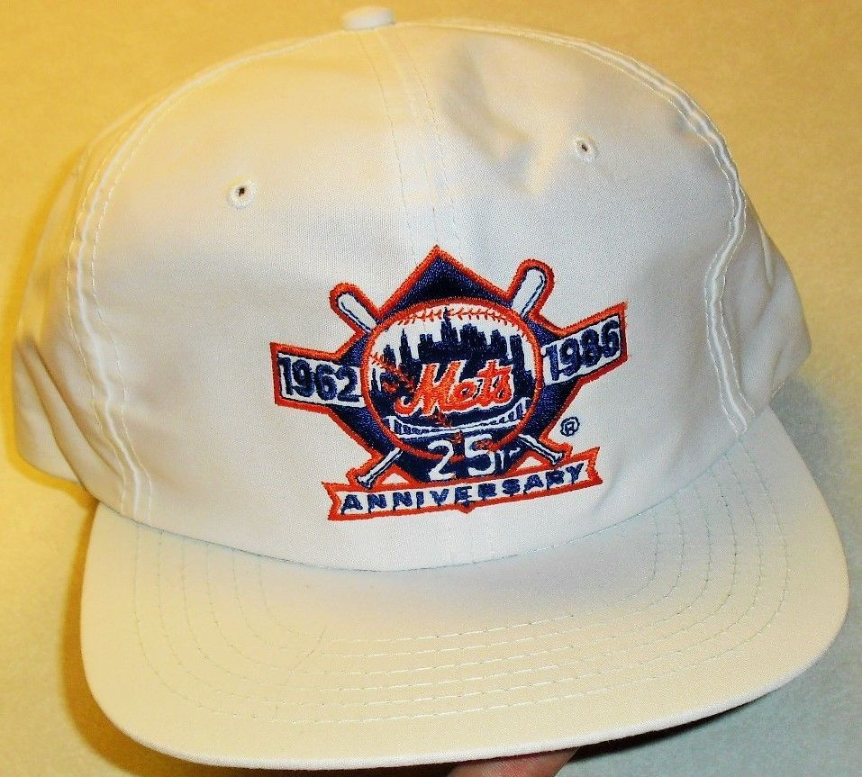 adcfd3cfbf6f0 ... mesh trucker hat 80s 90s uii size m l nwt 1189d norway new york mets  1962 1986 25th anniversary vintage 80s original snapback hat mlb newyorkmets  f8eb4 ...