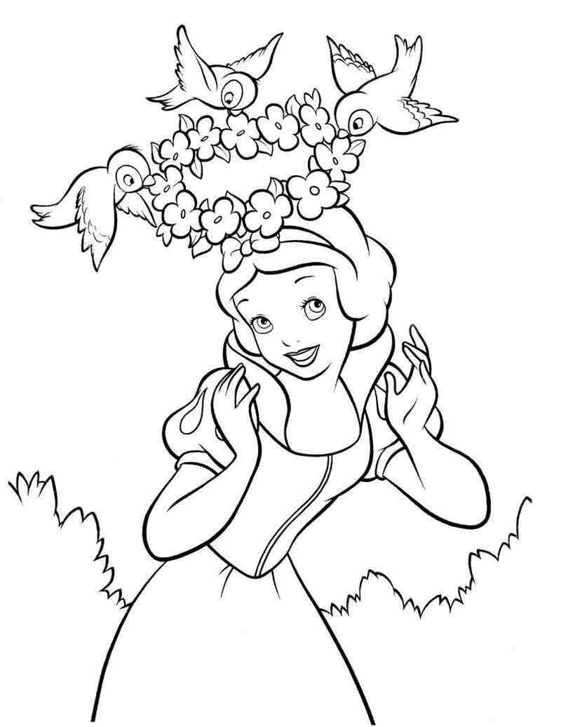 Free Snow White Coloring Printable Snow White Coloring Pages Disney Princess Coloring Pages Witch Coloring Pages