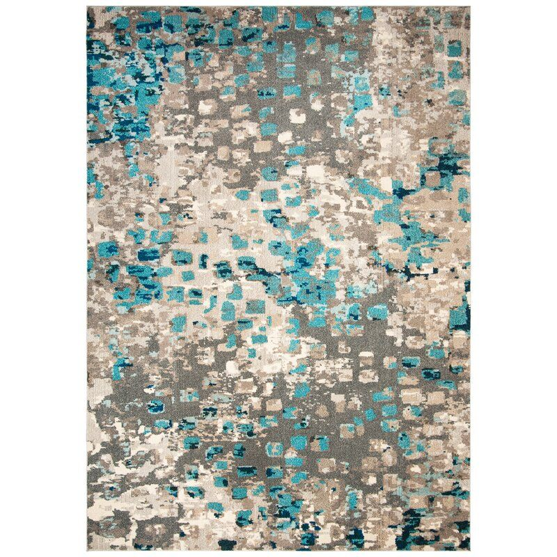 Indira Abstract Gray Light Blue Area Rug In 2020 Light Blue Area Rug Area Rugs Watercolor Rug