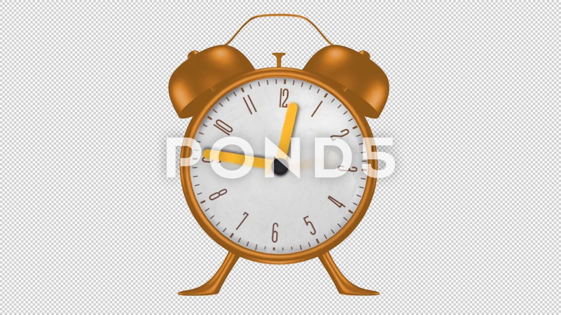 3d Animated Alarm Clock Looped Alpha Channel Included Stock Footage Ad Clock Looped Animated Alarm Alpha Channel Alarm Clock 3d Animation