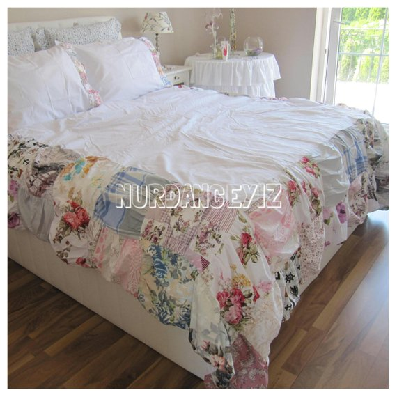 Shabby Cottage Chic 120x120 Or 120x98 Inch Super King Duvet Cover Bedding Colorful Box Patchwork Luxury Duvet Covers Luxury Bedroom Master Shabby Chic Bedding