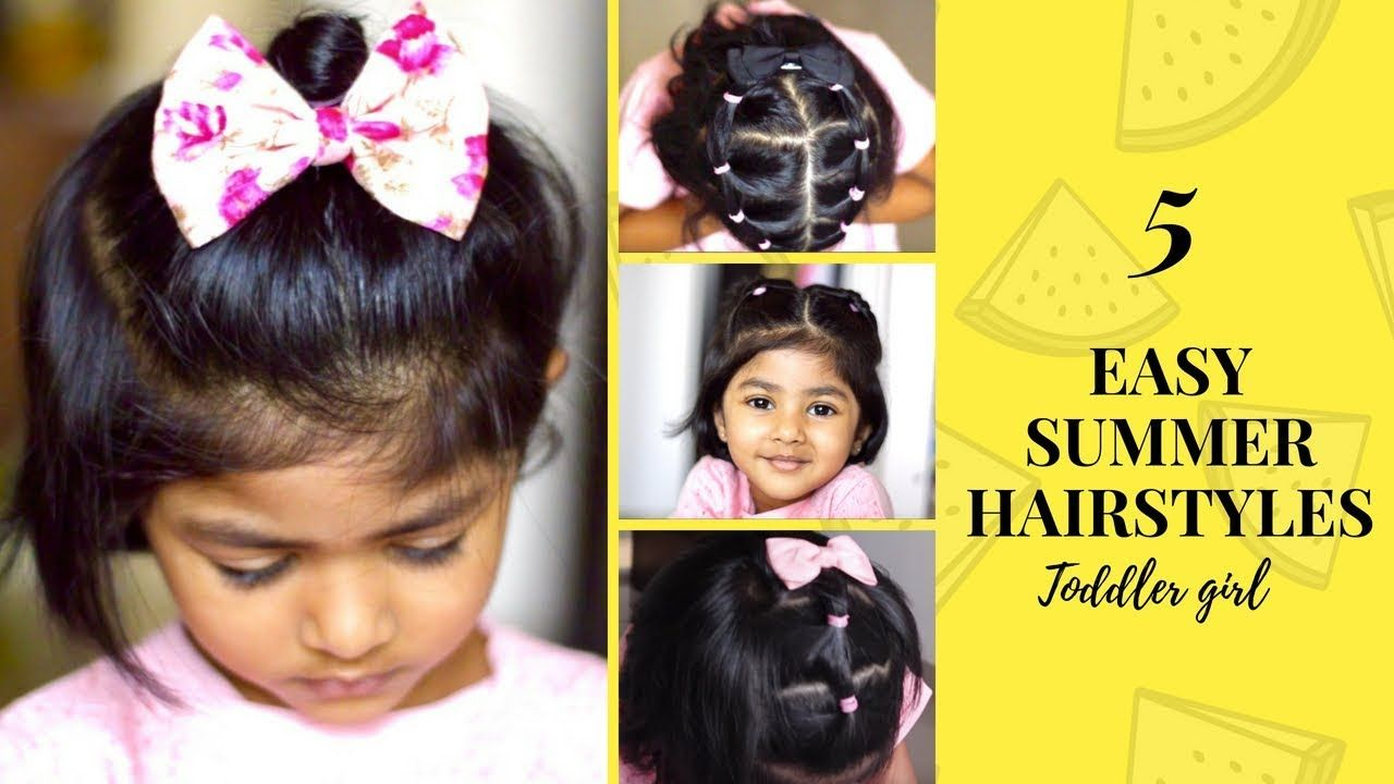 5 EASY INDIAN SUMMER HAIRSTYLES for short hair | Toddler hairstyles | Cute Quick - YouTube in ...