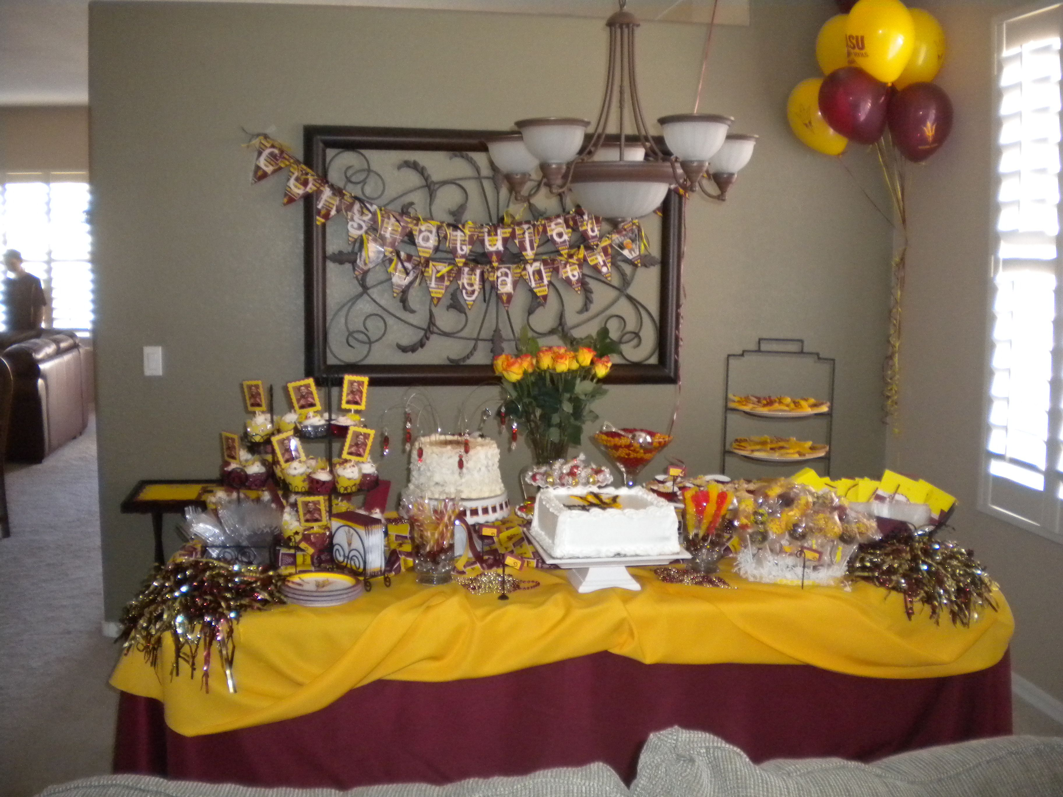 arizona state university themed graduation dessert buffet sweet dreams are made of these. Black Bedroom Furniture Sets. Home Design Ideas