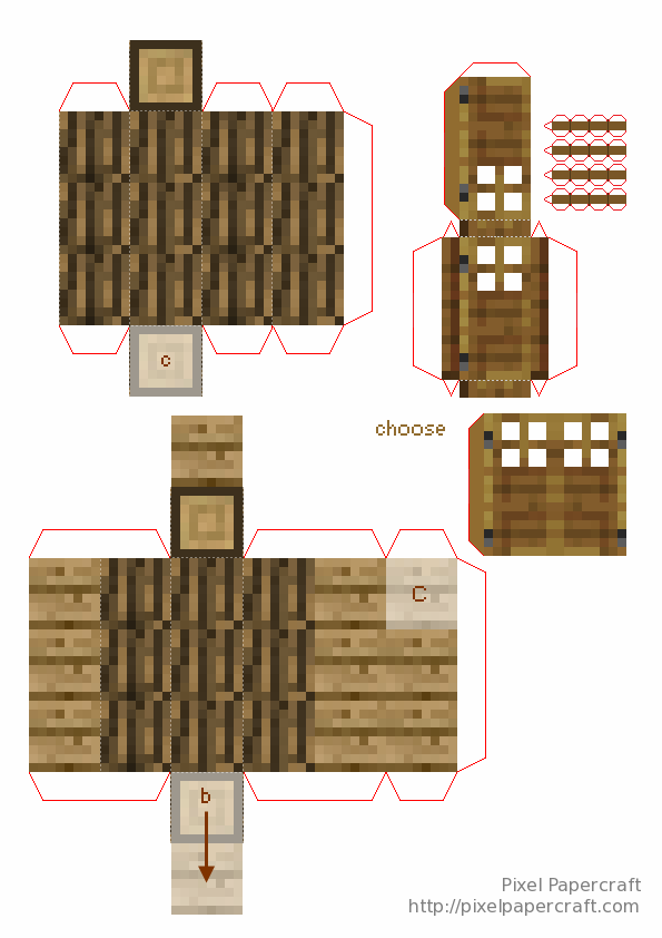 Papercraft Advanced Mini House With Furniture Ideias De