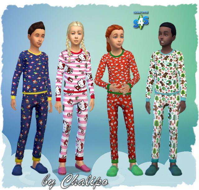 weihnachtspyjama für kinder  filebase  all4simsde  the