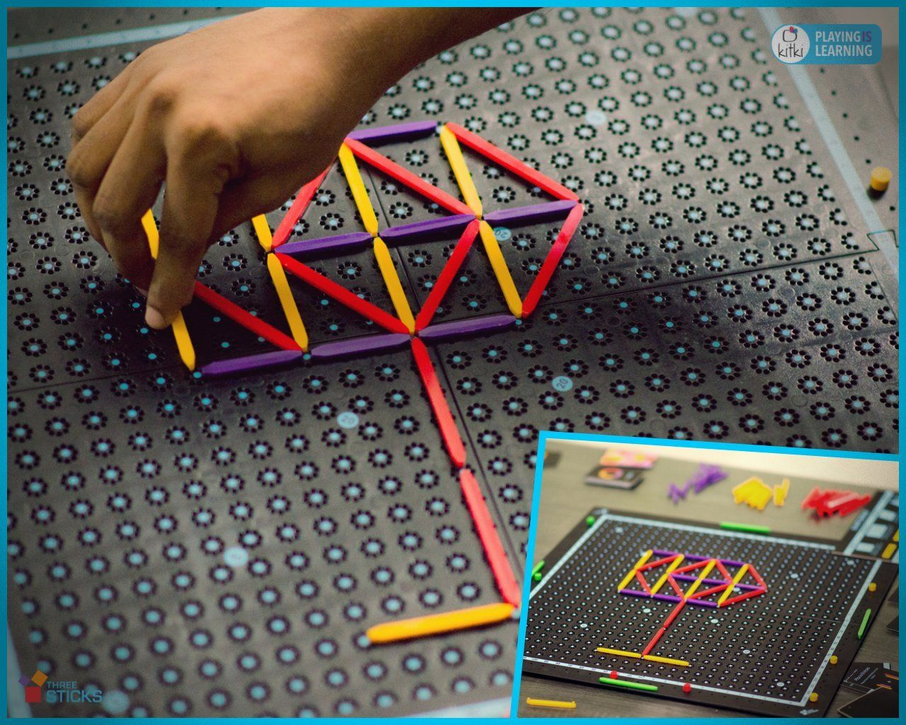 Kitki Three Sticks Math Game Fun with Shapes *** Want to