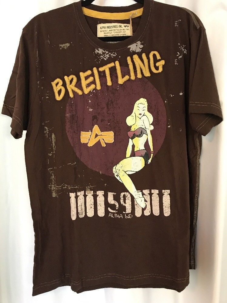 1f5b6f907 Alpha Industries Breitling 3D T Shirt XL New w/Tags Pin UP Brown Style  #101517 | Clothing, Shoes & Accessories, Men's Clothing, T-Shirts | eBay!